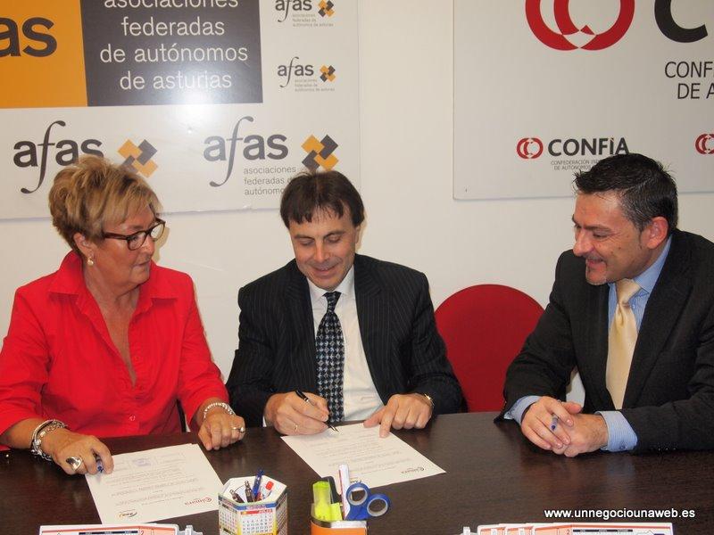 """AFAS firma un convenio con la Cámara de Comercio de Gijón para difundir el proyecto Un Negocio, Una Web"""""""