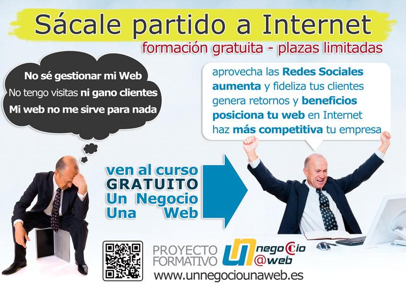 Cartel del curso de formación gratuito de gestión y posicionamiento Web