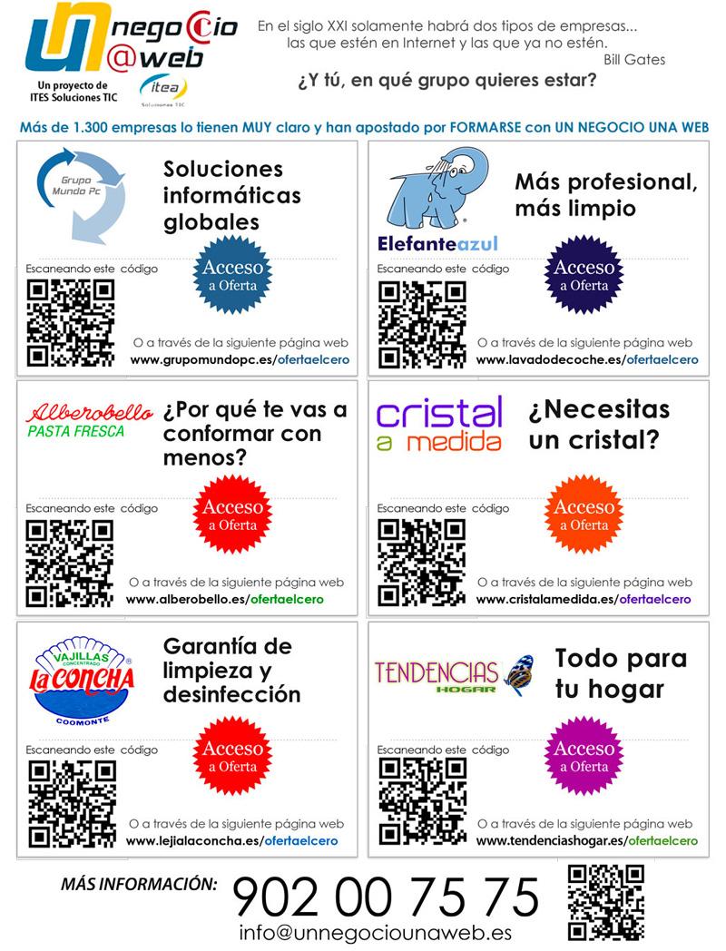 Beneficios de la colaboración entre empresas - Publicidad a página completa de empresas en Asturias con Un Negocio Una Web