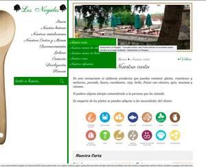 Web de Restaurante Los Nogales