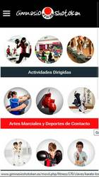 Versión móvil de Web de Gimnasio Shotokan