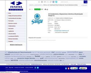 Web de Fenitel Asturias