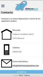 Versión móvil de Elefante Azul Pamplona