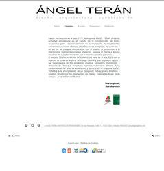 Visión de la web completa de Ángel Terán