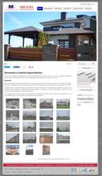 Visión de la web completa de Cubiertas Miguel Martinez