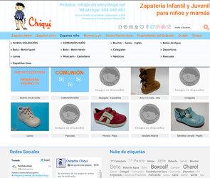 Web de Calzados Chiqui
