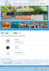 Visión de la web completa de Guardería Kika