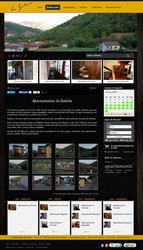 Visión de la web completa de La Galería Turismo Rural