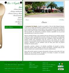 Visión de la web completa de Restaurante Los Nogales