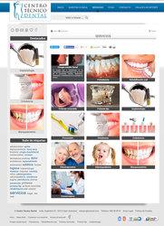 Visión de la web completa deCentro Técnico Dental