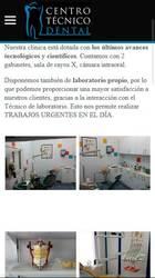 Versión móvil de la web  de Centro Técnico Dental
