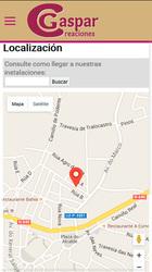 Versión móvil de Web de Gaspar Creaciones
