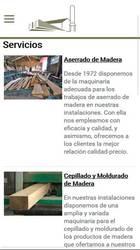 Versión móvil de Web de Maderas Ángel Suárez S.L.