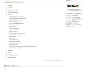 Web de Sidrería Casa Toni