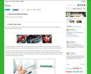 Web de Eco-SteamCar Limpieza a Vapor