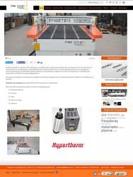 Visión de la web completa de MR CNC TOOL