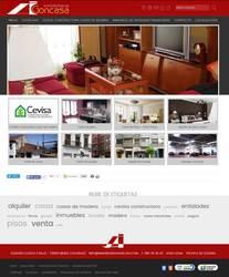 Visión de la web completa de Inmobiliaria Goncasa