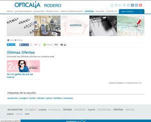 Web de Óptica Rodero