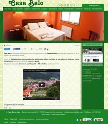 Web completa de Casa rural Balo