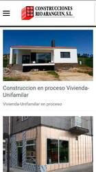 Versión móvil de Web de Construcciones Rio Aranguin