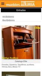 Versión móvil de Web de Muebles del Turia