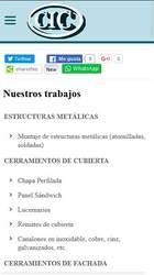 Versión móvil de Web de Cerramientos Campoamor