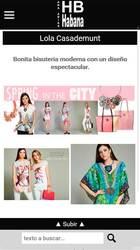 Versión móvil de Web de Moda Habana