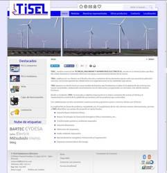 Visión de la web completa de Tisel Suministros Eléctricos