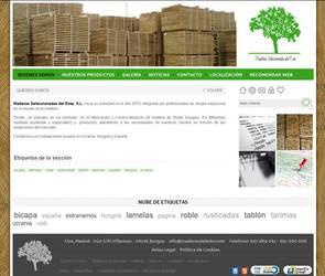 Visión de la web completa de Maderas del este