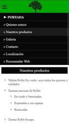 Versión móvil de Web de Maderas del este