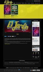 Visión de la web completa de Discoteca el jardín