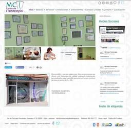 Visión de la web completa de Marta Conejo centro de fisioterapia