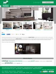 Visión de la web completa de Muebles Pumarin