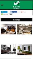 Versión móvil de Web de Muebles Pumarin
