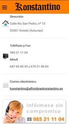 Versión móvil de Web de Alfombras Konstantino
