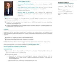 Web de Clínica Oftalmológica Dra. Fau