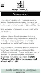 Versión móvil de Web de Azulejos Calderón