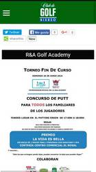 Versión móvil de Web de Golf Bierzo