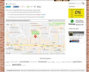 Web de Lampisteria Premi Sants