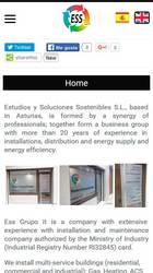 Versión móvil de Web de ESS - Estudios y Soluciones Sostenibles