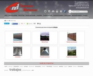 Web de Tarvinor Metálicas