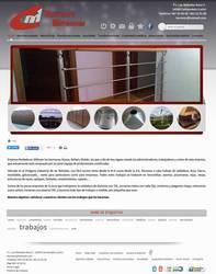 Visión de la web completa de Tarvinor Metálicas