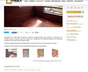 Web de Barnizados Puebla