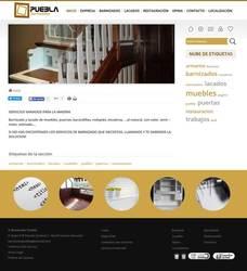Visión de la web completa de Barnizados Puebla
