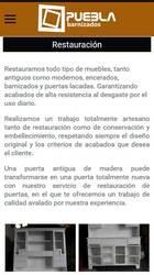 Versión móvil de Web de Barnizados Puebla