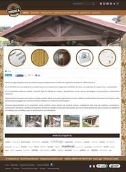 Visión de la web completa de Carpintería Proaza