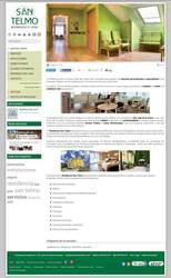 Visión de la web completa de  Residencia San Telmo