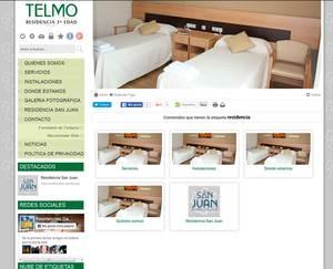 Web de Residencia San Telmo
