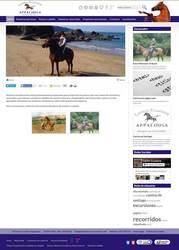 Visión de la web completa de Centro Ecuestre Appaloosa