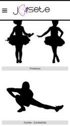 Versión móvil de Web de Escuela de Baile Josete Salgarcía